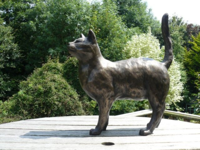 bronze cat sculptures by Peter Close