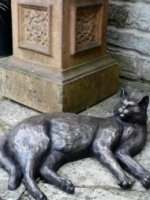 bronze cat art