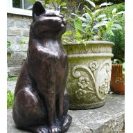 Charmant Cat Garden Sculpture